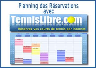 Planning des réservation
